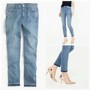 J. Crew High Rise Raw Hem Skinny Crop Jeans Sz 24
